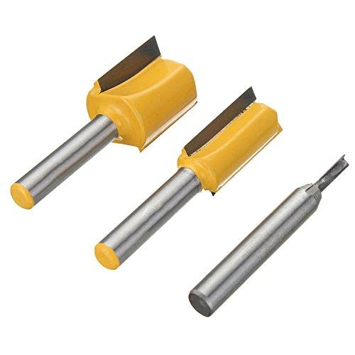 ZHENWOFC 3pcs 1/4 Zoll Schaft Undersize Sperrholz Dado Fräser Set Holzbearbeitung Cutter Hardware-Ersatzteile - Dado Cutter