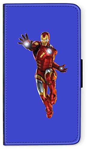 Flip Case Avengers Helden Comic Marvel kompatibel für Huawei P20 LITE Iron Man fliegt Handy Hülle Leder Tasche Klapphülle Brieftasche Etui rund um Schutz Wallet M1 -