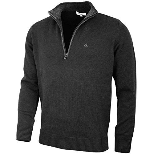 Calvin Klein Golf Hommes Pull en Coton - Noir - L