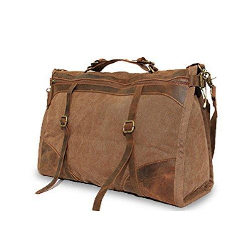 Paonies Damen Herren Canvas Schultasche Handtasche Rucksack Umhängetasche Reisetasche (Kaffee) Kaffee