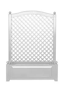 KHW 37001 Spalier 100 x 43 x 140 cm, mit Pflanzkasten, weiß