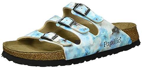 Papillio Damen Florida Birko-Flor Softfootbed Pantoletten, Mehrfarbig (Pixel Blue), 42 EU