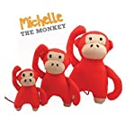 Beco Soft Toy - Michelle the Monkey made from Recycled Plastic Bottles - Toy for Dogs with Squeeker - M 6