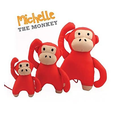 Beco Soft Toy - Michelle the Monkey made from Recycled Plastic Bottles - Toy for Dogs with Squeeker - M 2
