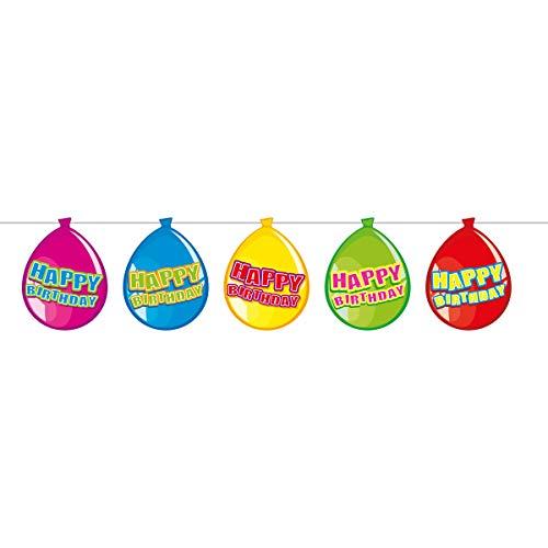 Preis am Stiel 4 x Wimpelkette Happy Birthda''? | Geburtstagskette | Deko