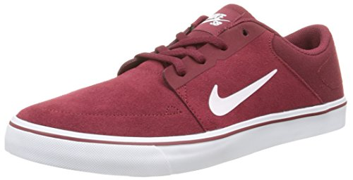 Nike Sb Portmore, Baskets Basses Homme Rouge (Team Red/White)