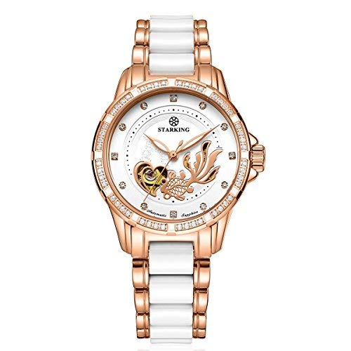 Starking ceramica orologi da donna rose Gold AL0231self-wind automatico...