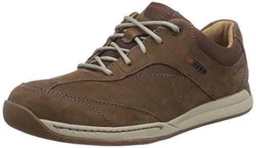 Clarks Herren Javery Edge Sneaker Braun (Dark Brown Nub)