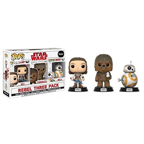 Funko–Star Wars Los Últimos Jedi, Caja con 3 Figuras: Rey Chewbacca, 26487