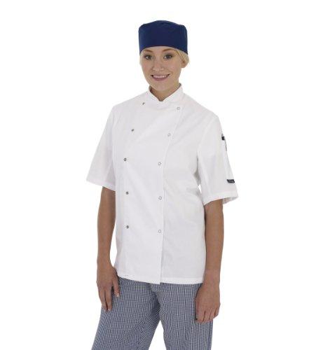 dennys-gants-cuisine-a-manches-courtes-pour-femme-blanc-xxl