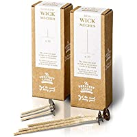 The Greatest Candle In The World Set de Mechas Tealight para Eco Velas, Algodón, Blanco, 4.5 x 3 x 12.5 cm, 50 Unidades