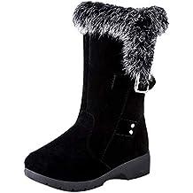 be6d26bf861 Bottes de Neige Femmes Chaussures Bottes Cuissardes d hiver Bottes fourrées Femmes  Bottes Slip-