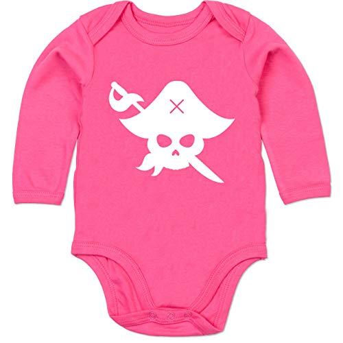 Shirtracer Karneval und Fasching Baby - Pirat Kostüm Fasching - 3-6 Monate - Fuchsia - BZ30 - Baby Body Langarm (Baby Kostüm Monate 3-6 Piraten)