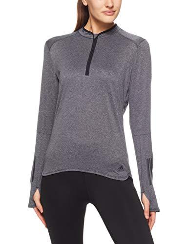 adidas Damen Response Zip Langarm Sweatshirt, Black/Colored Heather, M -
