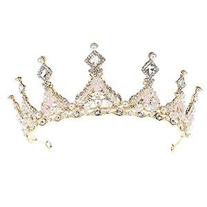Senoow Kristall Braut Krone Königin Prinzessin Hochzeit Tiara Gold Silber Haar Frauen Mädchen Damen Schmuck