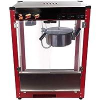 Iglobalbuy Máquina de palomitas de maíz 1370W capacidad 8oz Fabricante de palomitas de maíz retro Palomitas