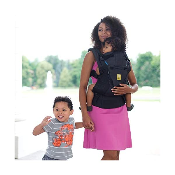 SIX-Position, 360° Ergonomic Baby & Child Carrier by LILLEbaby - The Complete Airflow (All Charcoal) Lillebaby ERGONOMIC: Perfect for newborns. No insert needed. COMFORT: Voted most comfortable baby carrier. SIX (6) POSITIONS: Front inward (fetal, infant, or toddler settings), front outward, hip or back carry. 7 - 45 lbs. 6