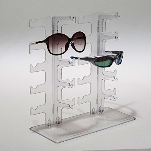 ZNL Brillenhalter Brillenregal Brillenständer Brillendisplay Sonnenbrille Display Ständer Für 10 Brillen KYJ03