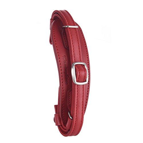 Herringbone Heritage Hand Grip Strap de Cuero apretón de la mano de la correa de muñeca para DSLR H12051 Red