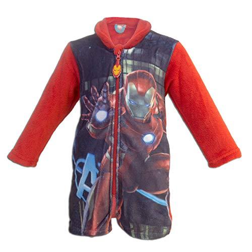 Super Heroes Marvel Avengers - Morgenmäntel für Jungen - 1312HR [Rot Iron Man - 4 Jahre - 104 cm]