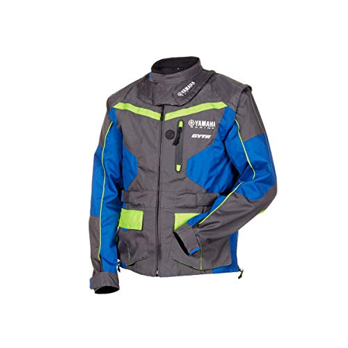 Giacca enduro cross off-road gilet Yamaha Racing GYTR maniche staccabili Tasca interna impermeabile MX Matterley (L)