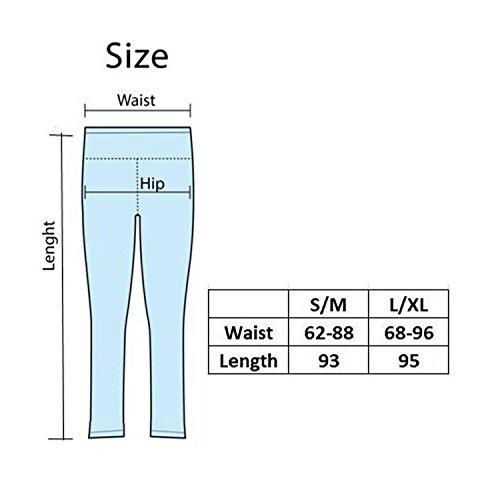 2er / 1er Pack GoVIA DamenSport Leggings Sporthosen Hohe Taille Yogahose für Fitness Workout 4101 Weiß