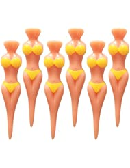 SPLHMILY Bikini Modello Tee da golf, 6pcs Mujer Forma Plastic Lady Golf Modelo Tees para todos los niveles Golfistas