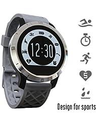 IPUIS Montre Intelligente Smart Watch Étanche Bluetooth 4.0 Podomètre, Sport, Nager, Fréquence Cardiaque de Mesure de sommeil pour IOS et Android Smartphone