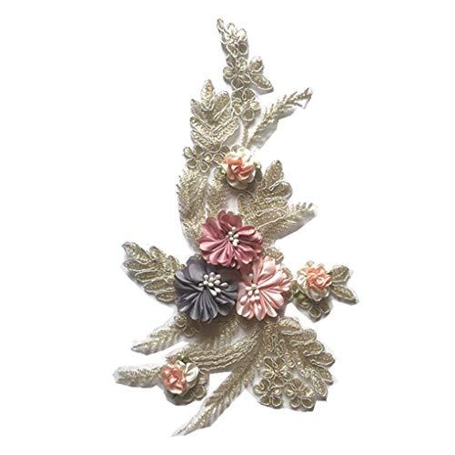 (Frauen-Mädchen-Stickerei Kleidung Paste Blumen Blätter Applikationen Stereo Anlage Kostüm Patches Mengonee)