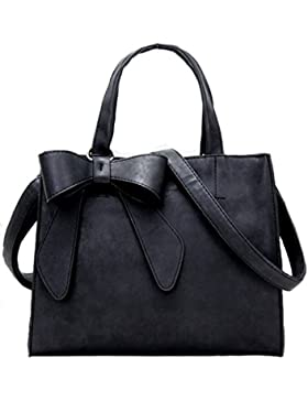 [Gesponsert]WOMJIA Bow-Tie-Peeling Damen und großzügig stumpfe polnische Einfache Handtaschen