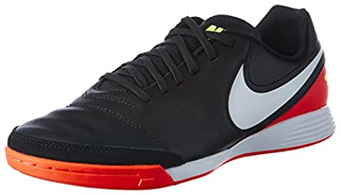 Nike Herren Tiempo Genio II Leather IC Futsalschuhe, Mehrfarbig (Black/White-Hyper