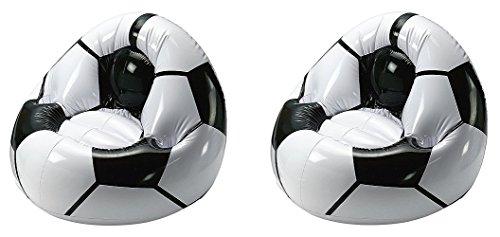 V Produkte 2x Aufblasbarer Fußballsessel Sitzkissen Sitzsack