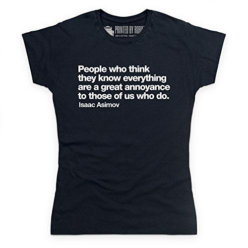 I Know Everything T-Shirt, Damen Schwarz