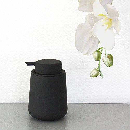 Zone Seifenspender Nova One Keramik mit Soft Touch Beschichtung 250 ml schwarz matt Keramik Seifen-pumpe