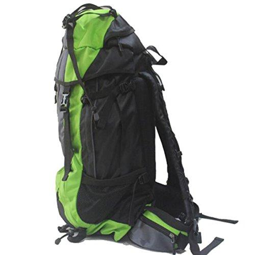 Trekking Zaino Sacchetto Borsa Resistente All'acqua Per L'escursionismo All'aperto Arrampicata Camping Alpinismo,Green Green