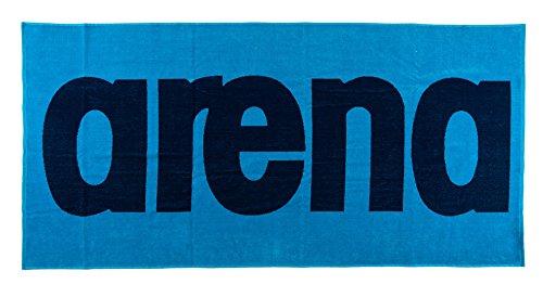 Arena telo da bagno logo, unisex, badehandtuch logo, turchese/blu navy
