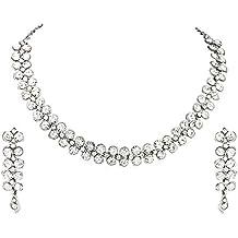 Atasi International Jewellery Set for Women (Silver)(R1726)
