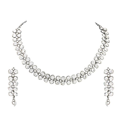 Atasi International Jewellery Set for Women (Silver)(R1726)