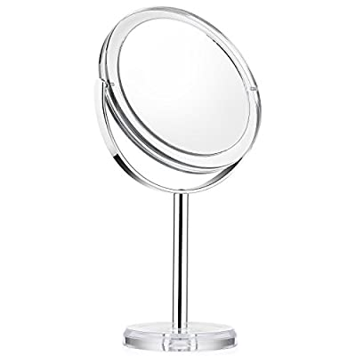 Vanity Mirror, Dressing Table Makeup Mirror with 1x/7x, 6'' 360° Swivel Magnifying Mirror, Bathroom Mirror with Crystal-like Style, Beautifive - cheap UK light store.