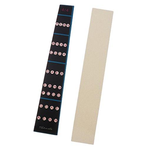 Gazechimp Griffbrett Intonation Diagramm Griffbrett Note Sticker für Geige Fingern Etiketten 4/4