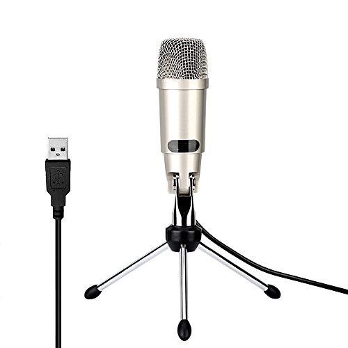 ZYG.GG Ordenador Personal Micrófono, USB Plug & Play Profesional Estudio en casa Condensador Micrófono para Podcast, Grabación como Facebook, Skype, Youtube, con Trípode - Confronta prezzi