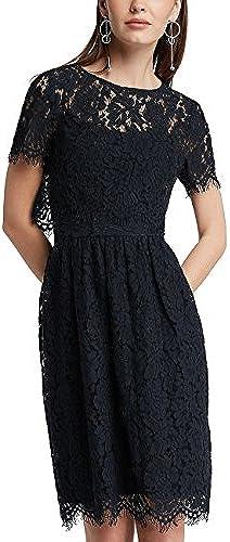 APART Fashion Damen Kleid MidnightBlau-Dusty Rosa-Print