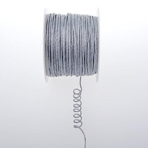 Deko AS GmbH Papierdraht Silber - 2mm 100m - 601-21