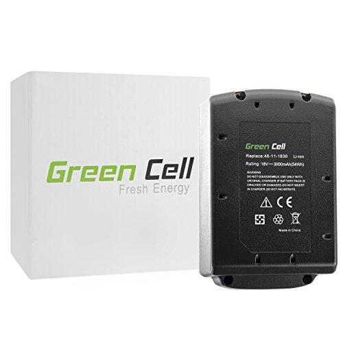Green Cell® Batteria per Milwaukee M18 SAWZALL (Li-Ion 3Ah (18v Sawzall)