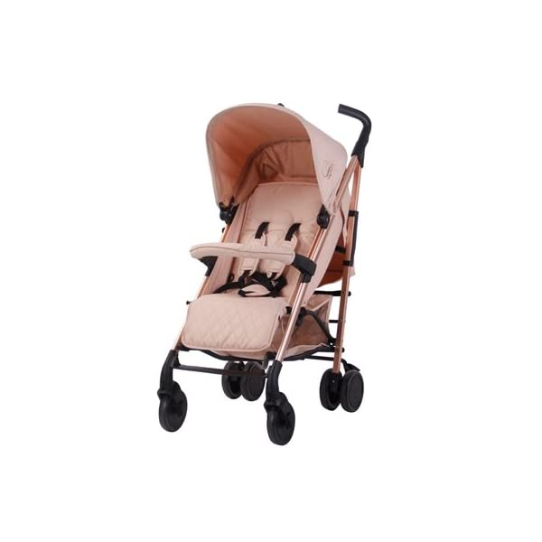 My Babiie Billie Faiers MB51 Rose Blush Stroller  Suitable from birth to maximum 15kg Extendable 3 position canopy Lockable swivel front wheels 2