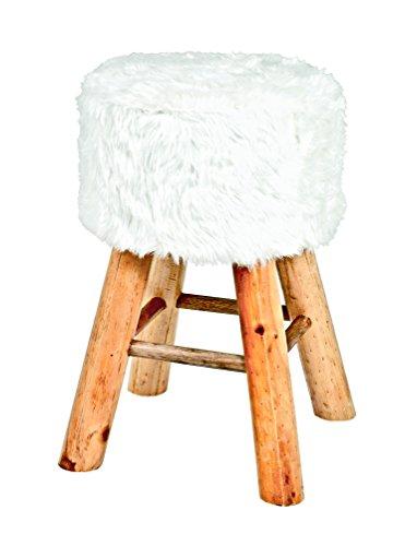 Haku-Möbel Hocker, 30 x H: 45 cm, weiß