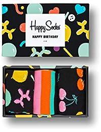 Happy Socks 3-Pack Calcetines De Cumpleaños Cantando Caja De Regalo, Negro/multi