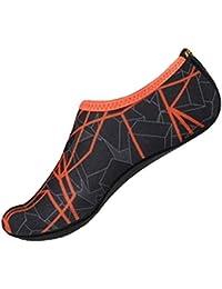 LuckyGirls Chanclas de Hombre Mujer Estampado de Multicolor Moda Personalidad Casual Ligero Sandalias Secado Rápido Calcetines de Playa Buceo Zapatos de Nadando y Yoga(32-45)