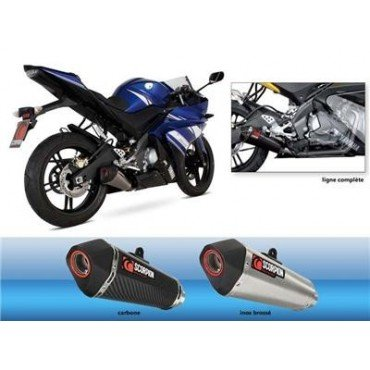YAMAHA YZF R-08 125/13-LÍNEA DE ESCAPE SILENCIOSO RED SCORPION POWER-76409040 CARBONO