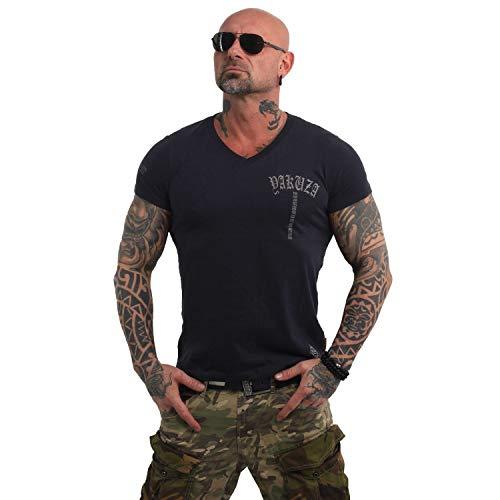 Yakuza Herren Skull V02 V-Neck T-Shirt